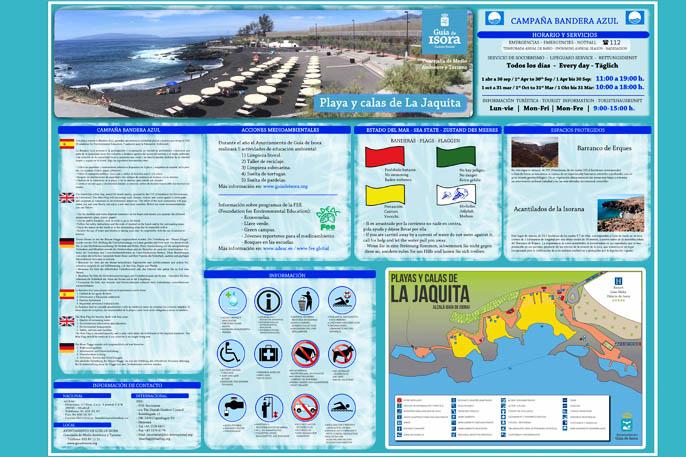 Información el la Playa de La Jaquita
