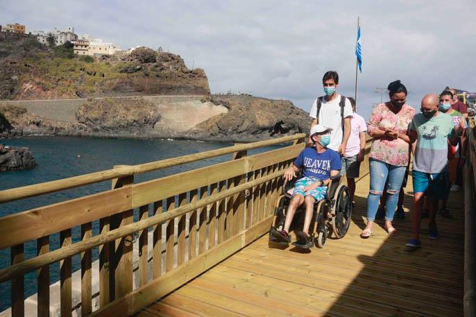 Rampa acceso playa el Muelle Garachico